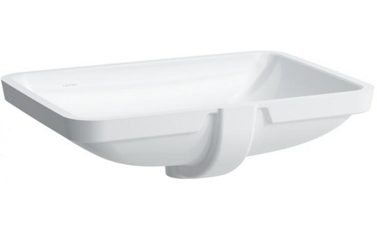 LAUFEN PRO S vestavné umyvadlo 625x450mm bez otvoru, bílá LCC