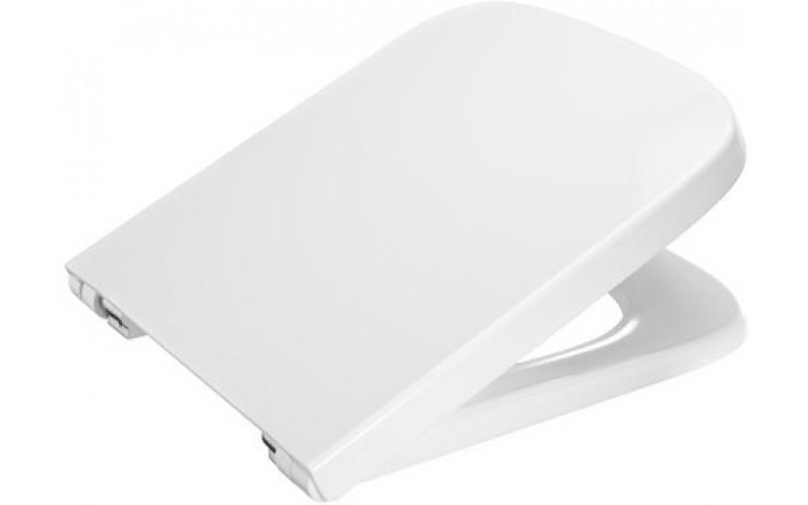 ROCA DAMA klozetové sedátko s poklopem, Slowclose  s antibakteriální úpravou, bílá 780178C004