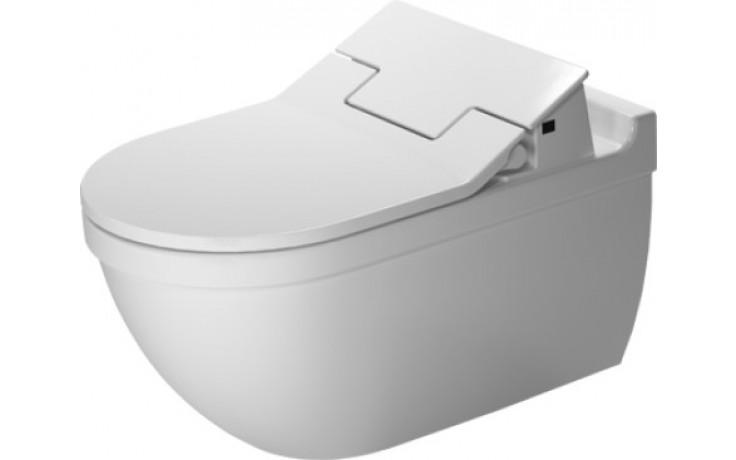 WC závěsné Duravit odpad vodorovný Starck 3 pro bidetové sedátko SensoWash 37x62 cm bílá+Wondergliss