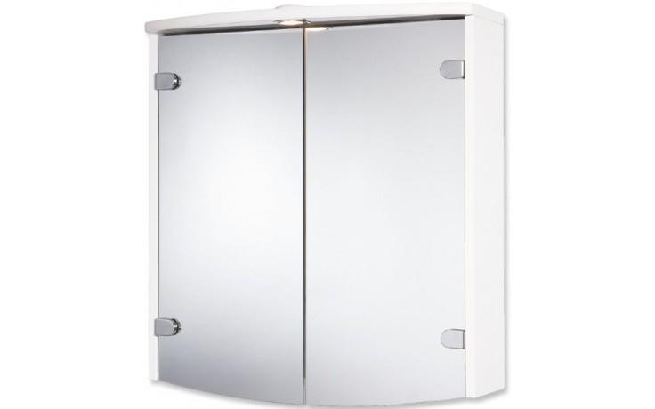 JOKEY JOBA zrcadlová skříňka 63x23,5x68cm dřevo, bílá/hliník