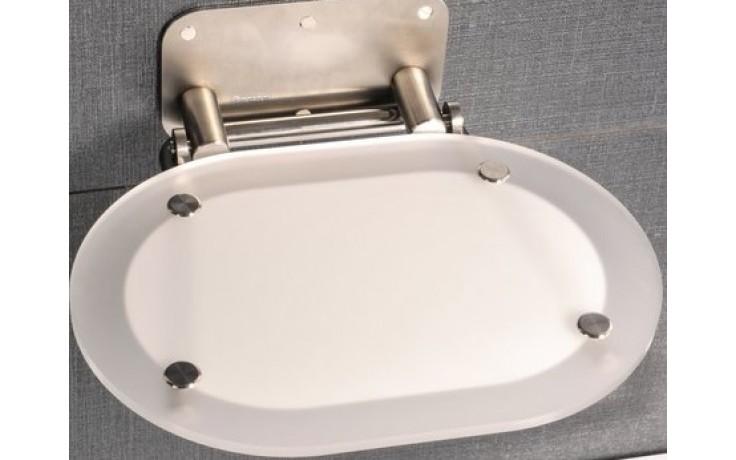 Příslušenství ke sprchovým koutům Ravak - Sedátko Chrome Clear bílá  stainless