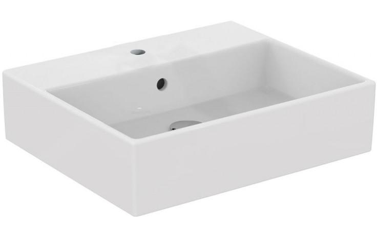 IDEAL STANDARD STRADA umyvadlo 500x420mm na desku, s otvorem a přepadem, bílá K081601