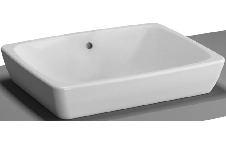 Mísa umyvadlová Vitra bez otvoru Metropole s přepadem 50x40 cm bílá