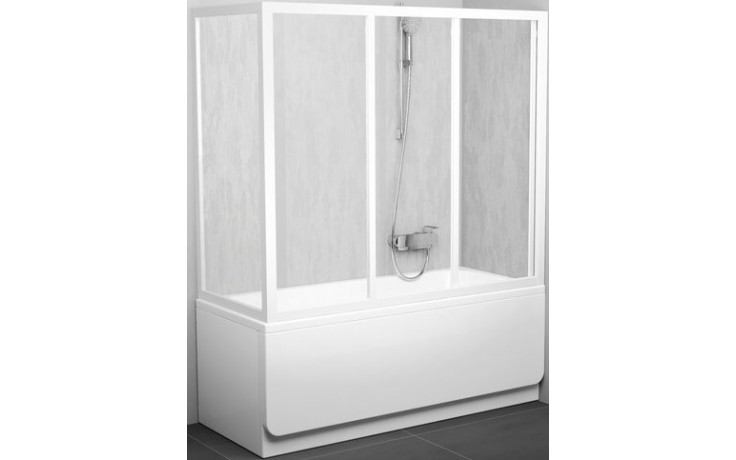 Zástěna vanová dveře Ravak sklo APSV 75 cm bílá/transparent