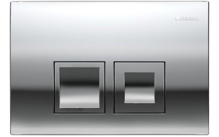 GEBERIT DELTA 50 ovládací tlačítko 24,6x16,4cm, chrom lesk 115.135.21.1