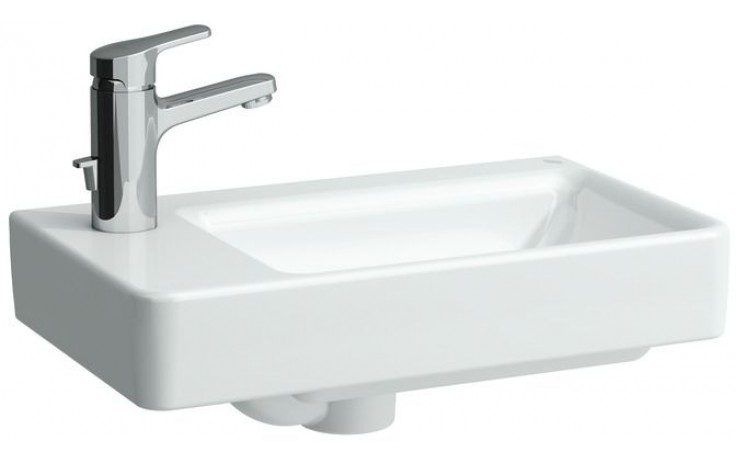 Umývátko klasické Laufen s otvorem Pro asymetrické levé 48 cm bílá