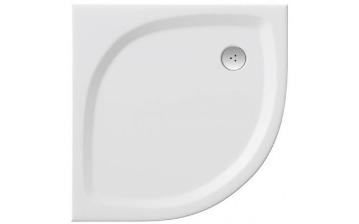 Vanička litý mramor Ravak čtvrtkruh Elipso Pro 90 Flat 90x90x30 R500 BÍLÁ