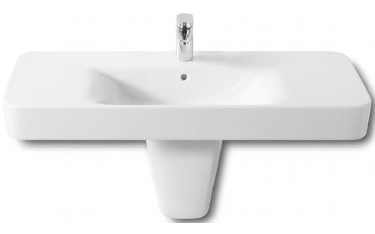 Umyvadlo klasické Roca s otvorem Dama Senso Squere s instalační sadou 85 cm bílá