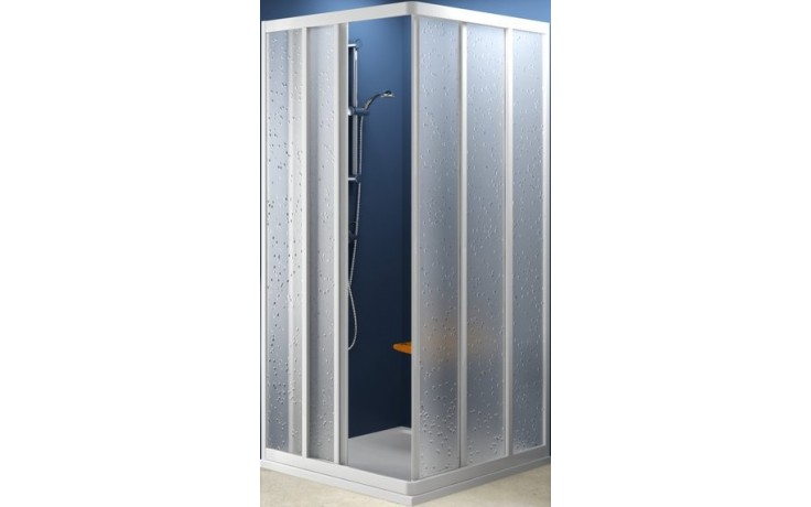 Zástěna sprchová dveře Ravak plast ASRV3-90 90x1880 bílá/pearl