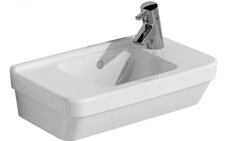 Umývátko klasické Vitra s otvorem S50 Compact s přepadem 50 cm bílá