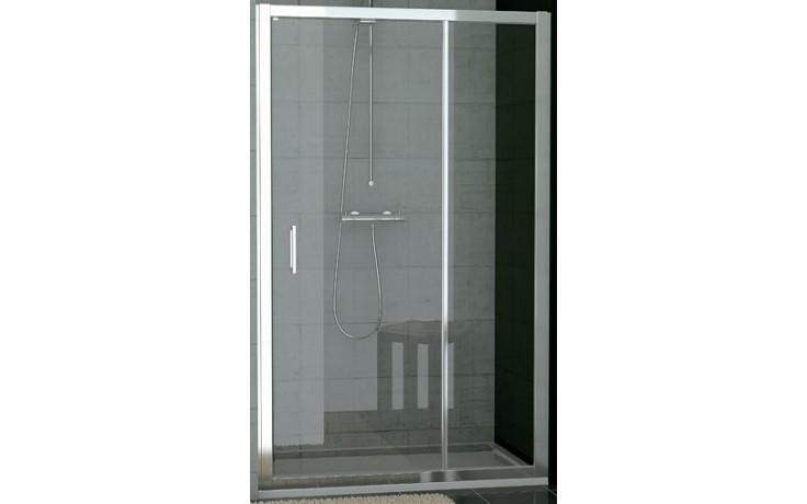 SANSWISS TOP LINE TED sprchové dveře 900x1900mm, jednokřídlé s pevnou stěnou v rovině, aluchrom/čiré sklo