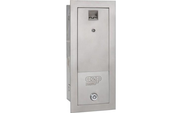 AZP BRNO ZAP 1 žetonový automat 315x130mm, pro automatickou pračku, nerez ocel