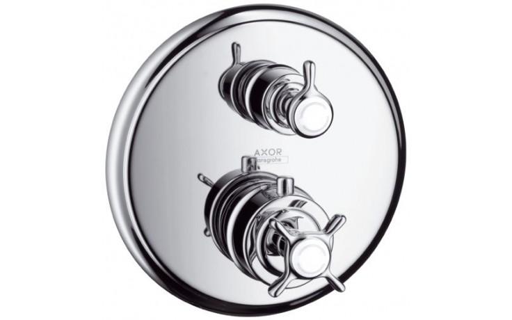 HANSGROHE AXOR MONTREUX termostat s podomítkovou instalací a s uzavíracím ventilem kartáčovaný nikl 16800820