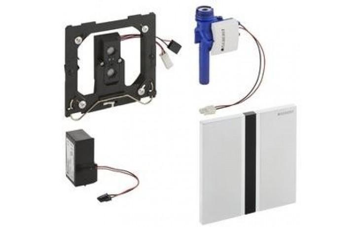 GEBERIT ovládání splachování pisoárů Sigma 50, 13x13cm, infračervené, napájení z baterie, pochromovaná kartáčovaná 116.036.GH.1