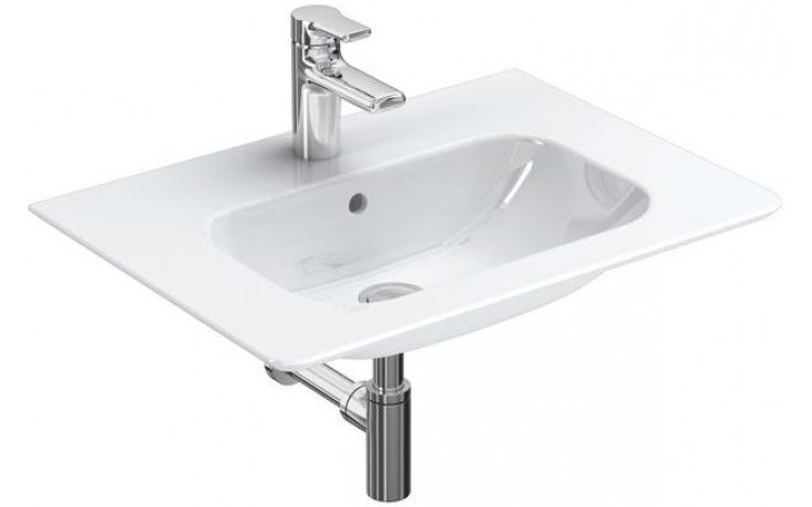 Umyvadlo nábytkové Ideal Standard s otvorem SoftMood 64x46x17 cm bílá+Ideal Plus