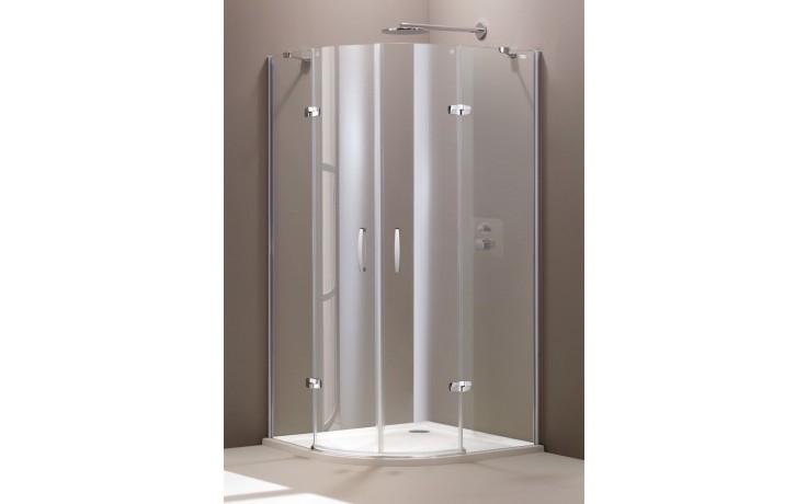 CONCEPT 300 sprchové dveře 900x900x1900mm 2-křídlové, 1/4 kruh, stříbrná/čiré sklo AP, PT432801.092.322