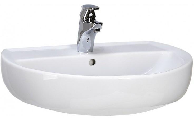 Umyvadlo nábytkové Kolo s otvorem Rekord 60x45,5 cm bílá