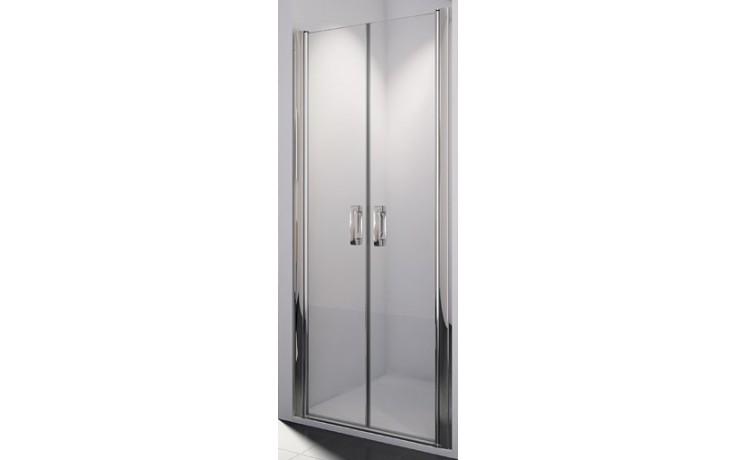 SANSWISS SWING LINE SL2 sprchové dveře 900x1950mm dvoukřídlé, aluchrom/čiré sklo