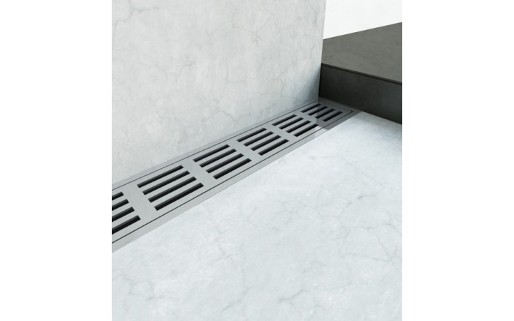 Žlab podlahový Unidrain - Odtokový žlab ClassicLine délka 1200mm nerez