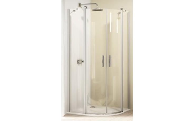 Zástěna sprchová čtvrtkruh Huppe sklo Design elegance 1000x1900 mm, R500 stříbrná lekslá/čiré AP