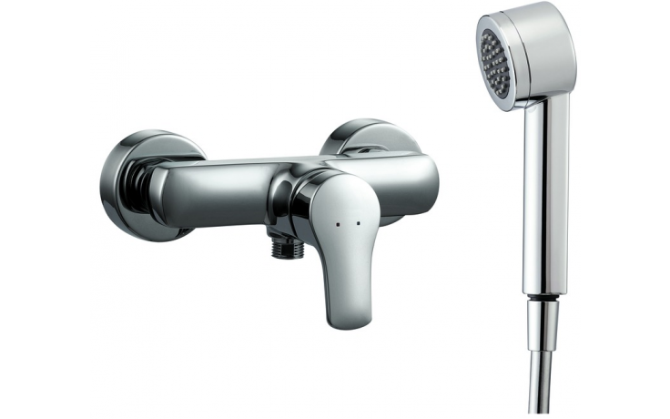 LAUFEN CITYPRO sprchová nástěnná páková baterie se sprchovou hadicí a ruční sprchou, chrom 3.3195.7.004.131.1