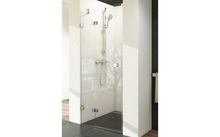 RAVAK BRILLIANT BSD2 80R sprchové dveře 800x1950mm dvoudílné, pravé chrom/transparent 0UP4AA00Z1
