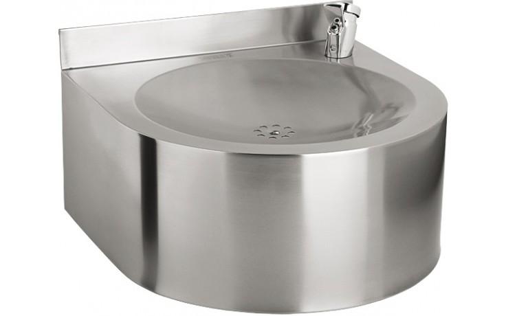 SANELA SLUN62E pitná fontánka, 350x350x240mm, závěsná, s automaticky ovládaným výtokem, nerez mat