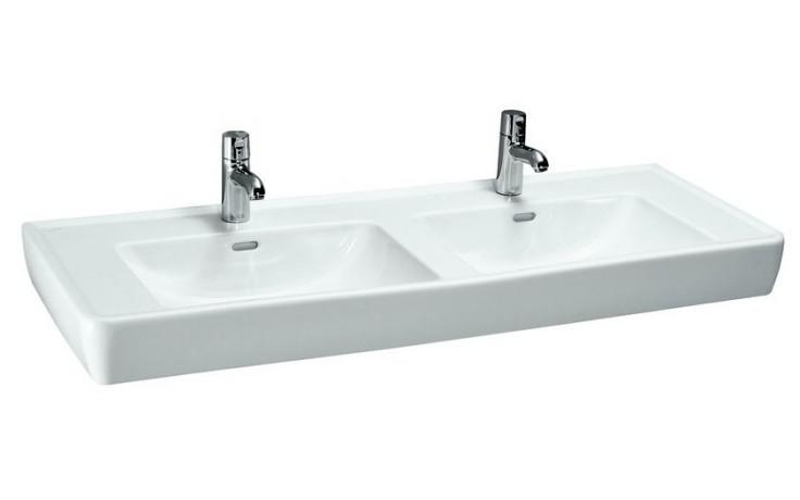 Umyvadlo nábytkové Laufen s otvorem Pro A dvojumyvadllo 130 cm bílá-LCC