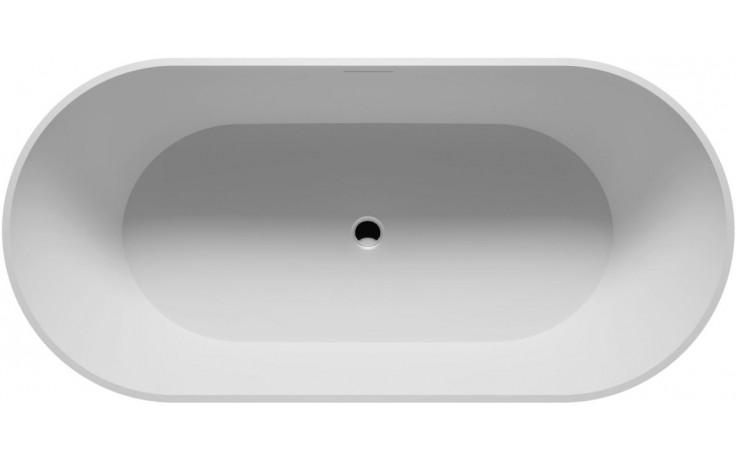 RIHO BILBAO BS10 vana 170x80x55,5cm, oválná, volně stojící, litý mramor, bílá