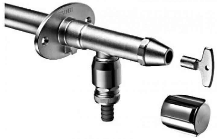 SCHELL POLAR II venkovní ventil DN15, nezámrzný, matný chrom, 039960399