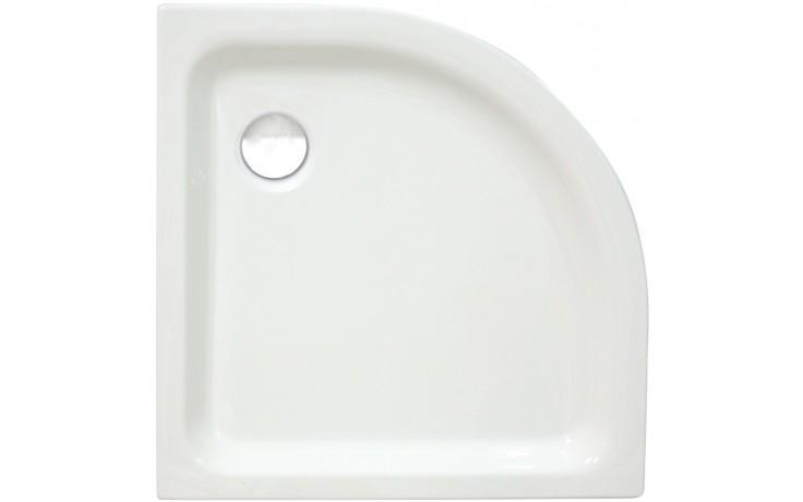 Vanička plastová - čtvrtkruh CONCEPT 100 NEW - R504 80x80x6,5cm, odtok 90mm bílá