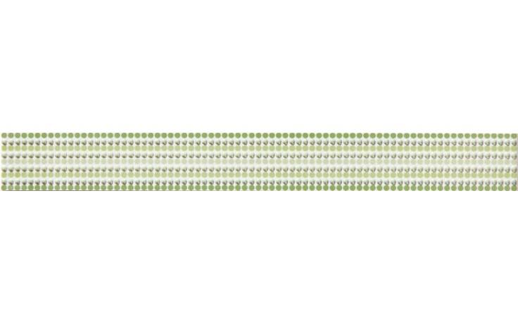 Listela Rako Vanity 4,5x39,8cm zelená