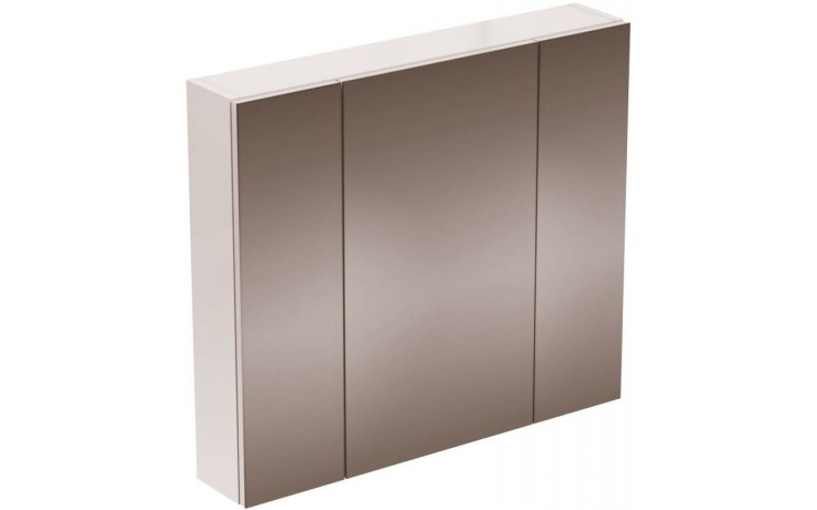IDEAL STANDARD STRADA zrcadlová skříňka 800mm s osvětlením, lak dekor hliník K2669AL