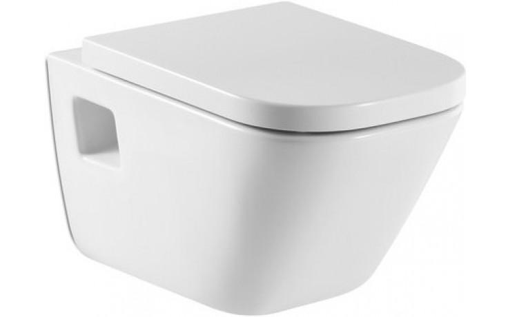 WC závěsné Roca odpad vodorovný The Gap  bílá-maxiClean