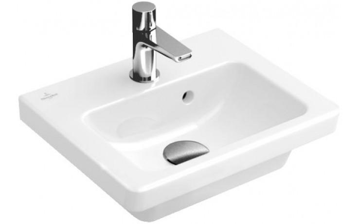 VILLEROY & BOCH SUBWAY 2.0 umývátko 370x305mm s přepadem Bílá Alpin 73173701