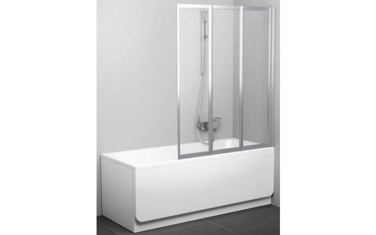 RAVAK VS3 115 vanová zástěna 1146x1400mm třídílná, skládací bílá/transparent 795S0100Z1
