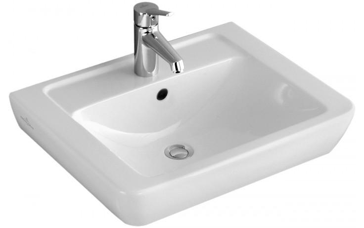 Umyvadlo klasické Villeroy & Boch s otvorem Verity Design 600x470mm Bílá Alpin Ceramicplus