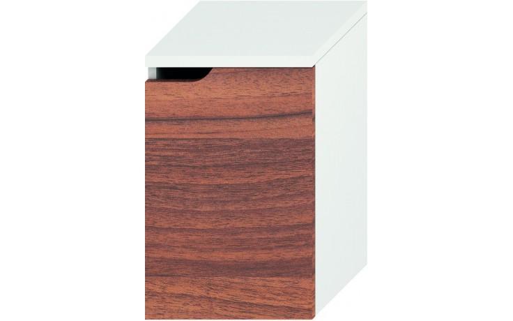 Nábytek skříňka Jika Mio střední pravá 36,3x57,1x34 cm bílá-ořech