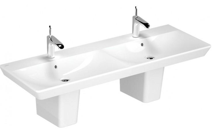 VITRA T4 dvojumyvadlo nábytkové 1300mm s otvorem a přepadem bílá 4455B003-0973