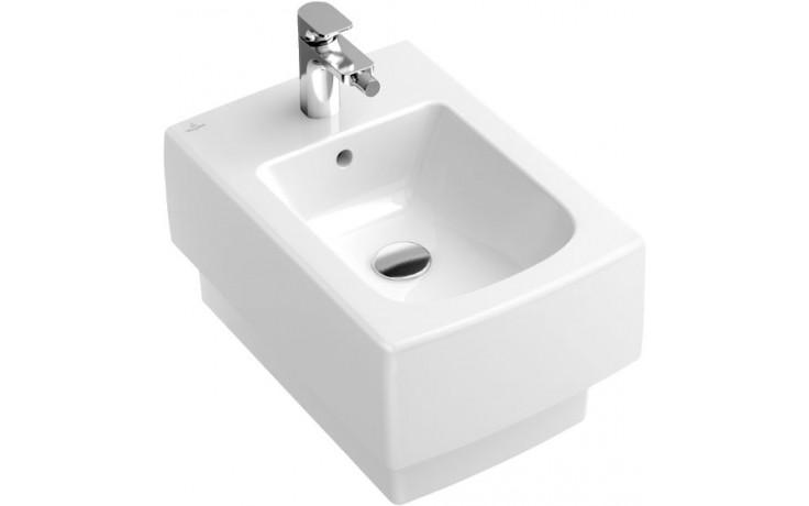 VILLEROY & BOCH MEMENTO závěsný bidet 375x560mm 1 otvorový, Bílá Alpin CeramicPlus 542800R1