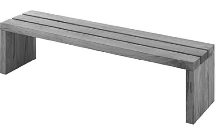 Příslušenství k vanám Duravit - Blue Moon 790855000000000 lavička 1400x1400 mm Teak pravé dřevo