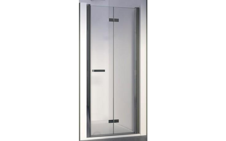 SANSWISS SWING LINE F SLF1D sprchové dveře 1000x1950mm pravé, dvoudílné skládací, bílá/čiré sklo