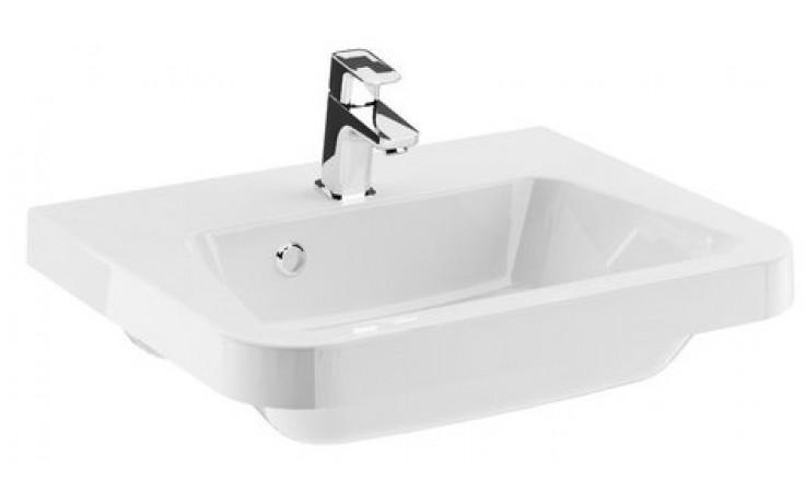 RAVAK 10 umyvadlo nábytkové 550x450x155mm z litého mramoru, s otvorem, bílá XJI01155000