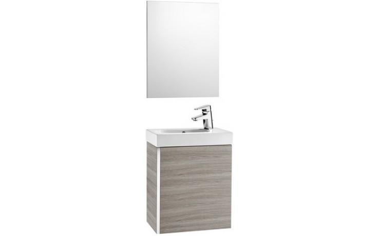 ROCA PACK MINI nábytková sestava 450x250x575mm skříňka s umyvadlem a zrcadlem dub 7855865155