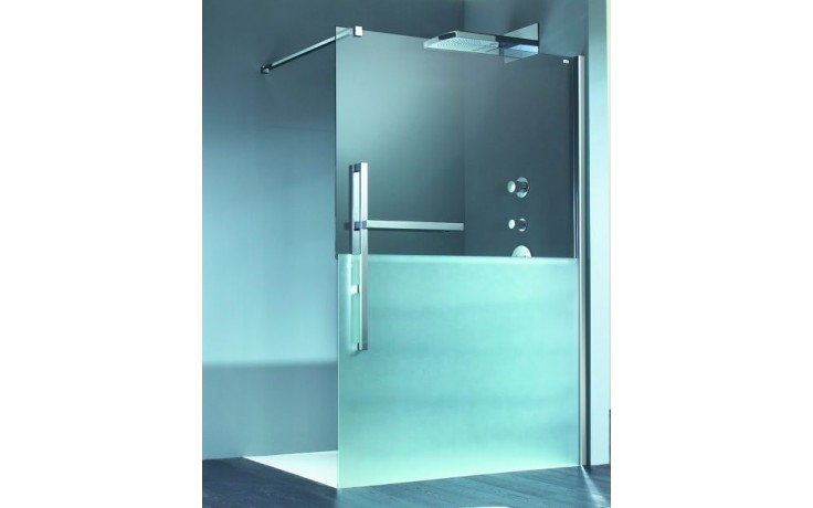 HÜPPE DUPLO PURE walk-in 1000x2000mm s nástěnnou lištou chrom/čirá anti-plague DT0000.C91.322