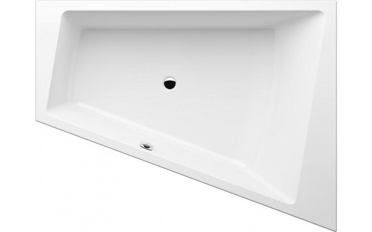 GKI MEMO tvarovaná vana 1750x1350/700mm polorohová, přepad vpravo, akrylátová, bílá