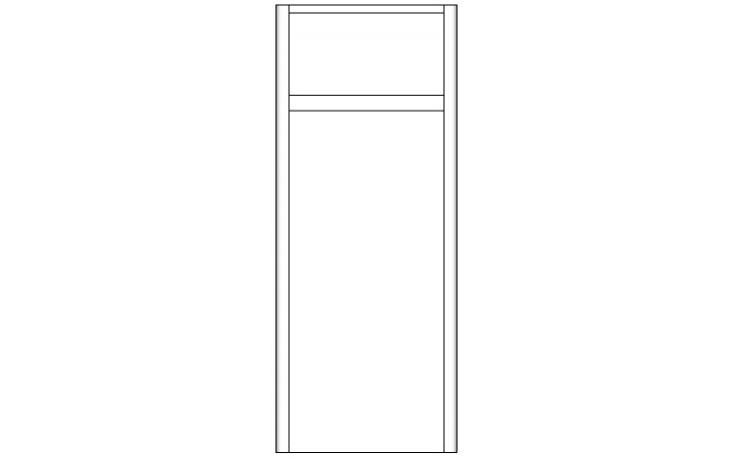 CONCEPT 600 doplňková skříňka 35x35x87cm s dvířky a zásuvkou, pravá, hnědá/hnědá C600.S2P.BG