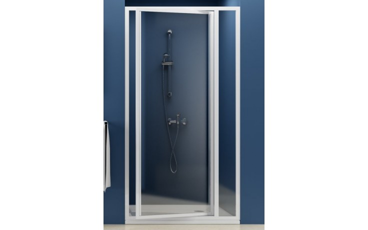 Zástěna sprchová dveře Ravak sklo SDOP-80 otočné pivotové 80 bílá/transparent