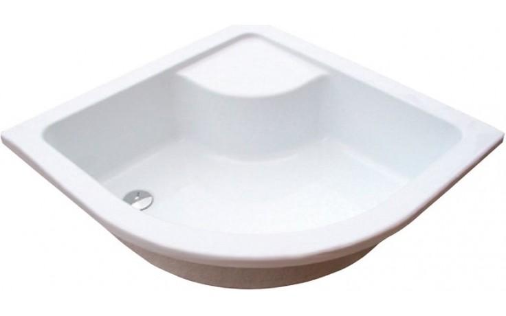Vanička plastová Ravak čtvrtkruh Sabina 90 LA 90x90 cm bílá