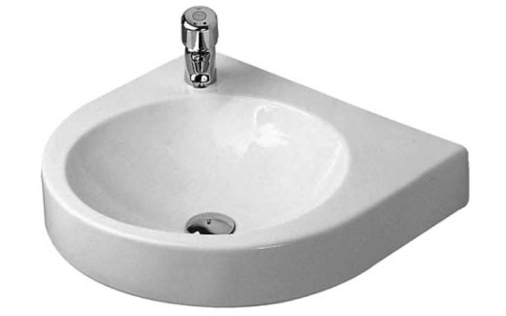 DURAVIT ARCHITEC klasické umyvadlo 575x520mm bez přepadu, s plochou pro armaturu vpravo, bílá 0449580008